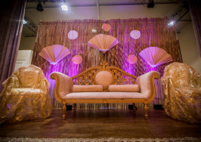 Bamboo Backdrop Nigerian Traditional Event Decor