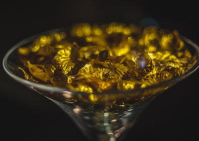 Gold Petals and Martini Vase