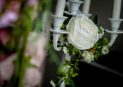 Ivy and Rose Candelabra Decor