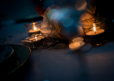 Tealights on a tablescape